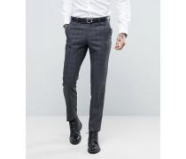 Schmal geschnittene Anzughose mit grauem Deckkaromuster Grau