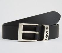 Levi's Ledergürtel mit Logo-Gurtschlaufe, schwarz Schwarz