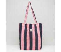 Dunsmoore Tasche zum Verstauen in Rosa & Marine gestreift Mehrfarbig