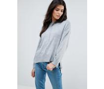 Boyfriend-Pullover in Oversize-Passform Grau