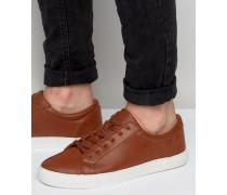 Sneaker zum Schnüren in Hellbraun Bronze