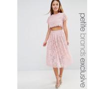 True Decadence Petite Ausgestelltes 2-in-1-Ballkleid aus Spitze Rosa