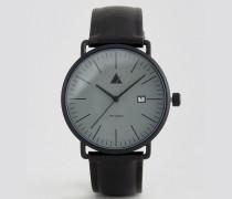 Schwarze Armbanduhr mit Datumsfenster Schwarz