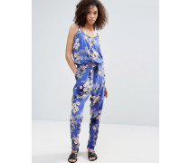 Overall mit elastischem Taillenbund und Print Mehrfarbig