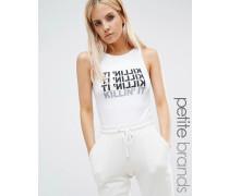 Kicks Back Body mit Motiv-Print Weiß