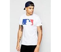 T-Shirt mit Schlagmann-Logo Weiß
