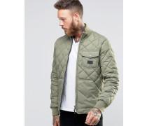 Gesteppte Jacke in Grün Grün