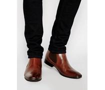 Chelsea-Stiefel aus Leder Braun