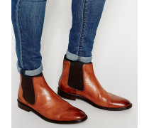Chelsea-Stiefel aus hellbraunem Leder Bronze