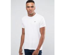 Must Have Schmales, weißes Rundhals-T-Shirt mit Möwenlogo Weiß