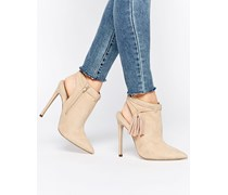 EUGENIE Spitze Ankle-Boots Beige