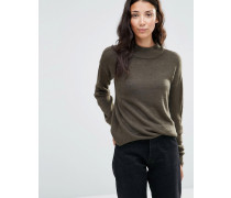 Melea Hochgeschlossener Pullover in Grün Grün
