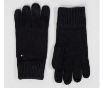 Schwarze Handschuhe aus Kaschmirmix Schwarz