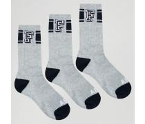 3er Pack Socken Grau