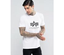 T-Shirt in regulärer Passform mit Logo in Weiß Weiß