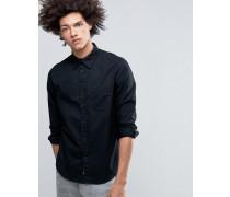 Rude Oxford-Hemd in Schwarz mit einer Tasche Schwarz