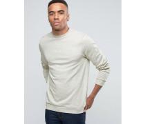Sweatshirt in Oatmeal mit Rundhalsausschnitt Beige