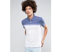 Polo in Blau und Weiß in Batikoptik Weiß