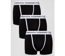 Boxershorts im 3er-Set Schwarz