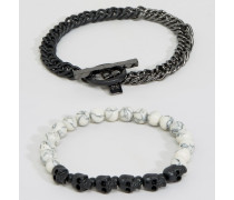 Armband-Set mit Knochedesigns Mehrfarbig