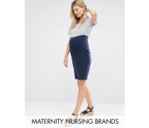 Mamalicious Nursing Elegantes 2-In-1-Kleid Marineblau