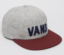 VA2YRTKHL Unstrukturierte Snapback-Kappe in Grau mit Etikett Grau