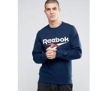 Vector AZ9537 Blaues Sweatshirt mit Rundhalsausschnitt und Logo Blau