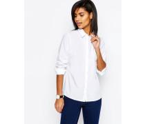 Schmal geschnittenes, weißes Hemd Weiß