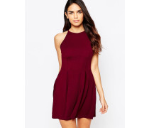 Kleid mit Faltenrock Violett