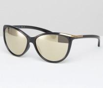CK Jeans Sonnenbrille in Katzenaugenform Schwarz