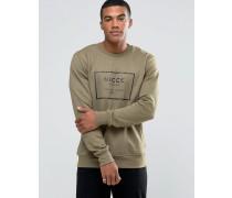 Sweatshirt mit gummiertem Box-Logo Grün