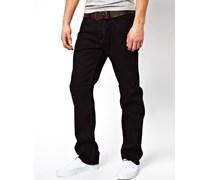 Waykee 886Z Gerade Jeans in Schwarz Schwarz