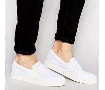Sneaker zum Hineinschlüpfen aus Netzstoff in Weiß Weiß