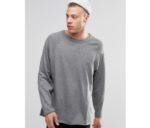 Goliath Sweatshirt mit Rundhalsausschnitt und unbearbeitetem Saum Grau