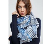 Oversize-Schal mit blauem Bandana-Print Blau