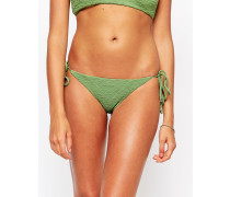 Stone Cold Fox for Texturiertes Bikinioberteil mit seitlicher Schnürung Grün