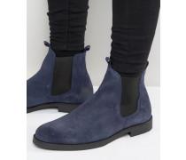 Chelsea-Stiefel aus Wildleder Marineblau