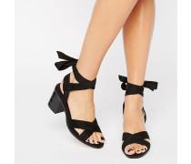 Truffle Mittelhohe Sandalen mit Knöchelschnürung Schwarz