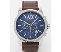 AX2501 Lederarmbanduhr Braun