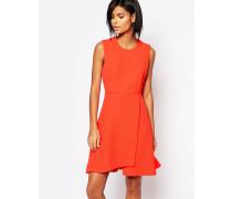 Texturiertes Kleid in Orange Orange