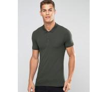 Grünes Muskel-Poloshirt Grün