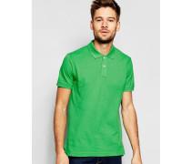 Enges Pikee-Polohemd mit kurzen Ärmeln Grün