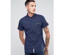 Kurzärmliges Hemd Marineblau