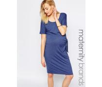 Mamalicious Jersey-Kleid mit Knoten Blau