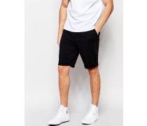 Castor Zugeschnittene Jersey-Shorts in Schwarz Schwarz