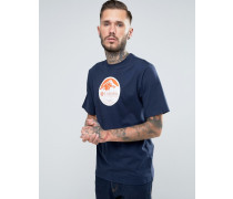 Pioneer T-Shirt mit Logo-Print Marineblau