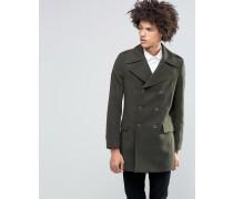 Premium Military-Mantel aus 80% italienischer Melton-Wolle Grün