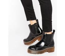 Schwere Stiefel im Arbeiterstil Schwarz
