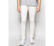 Enge Stretch-Jeans in Weiß Weiß