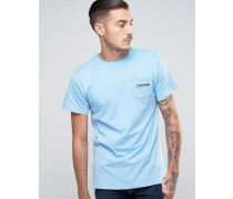 T-Shirt mit Paisley-Tasche Blau